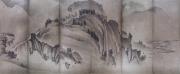 """Paravent """"Shuho"""", Verso mis à plat par assemblage des panneaux"""