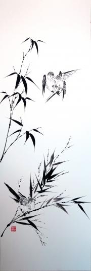 Bambou et oiseaux