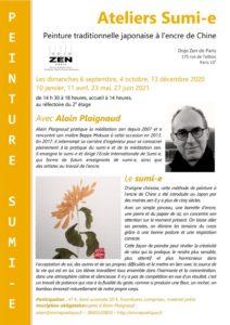 2020-2021 Affiche Atelier Sumi-e DZP