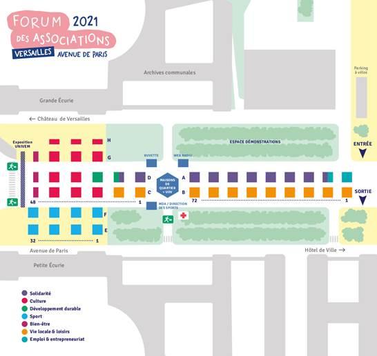 Plan Forum des Associations 2021